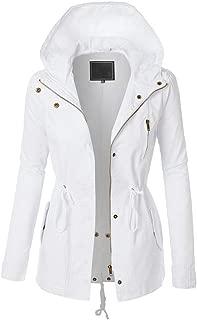 Womens Softshell Jacket Hooded Zip Long Sleeve Hoodie Winter Windbreaker Casual Rain Jacket Coat