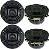 4 x Polk Audio DB+ Series 4-Inch 4' 2-Way Car Boat Marine Audio UTV Coaxial Speakers 135W
