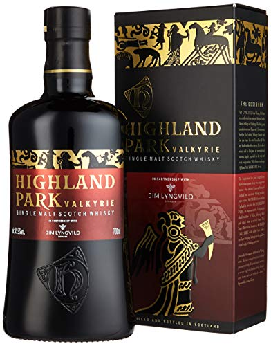 Highland Park Valkyrie Single Malt Scotch Whisky (1 x 0.7 l) – warme aromatische Raucharomen und volle, reife Frucht, Teil 1 der Viking Legends Trilogie