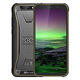 Smartphone Resistente, teléfonos móviles Inteligentes sin SIM BV5500 Android 8.1, 5.5' FHD Pantalla, Quad-Core 3 16GB, reconocimiento Facial, reducción de Ruido teléfono Celular,Yellow
