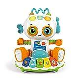Un simpaticissimo robottino baby clementoni ricchissimo di funzioni e contenuti, con attività, motore, luci e suoni Ruotando la leva sulla testa il robottino cambierà espressione e modalità di gioco, la chiave sull'altro lato finge di «ricaricare» l'...