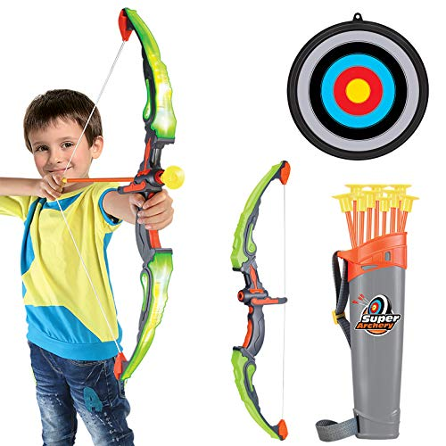 Conthfut Bow and Arrow for Kids with LED Flash Lights - Archery Bow with 9 Suction Cups Arrows,...