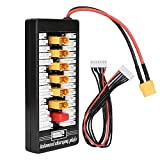 Tablero de carga paralelo múltiple, XT60 Plug 2S-6S Batería de lipo Tablero de carga paralelo para cargador de batería RC B6AC A6 720i