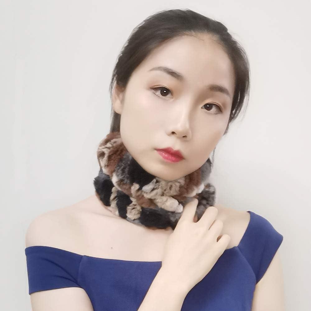 Winter Knit Neck Warmer Real Fur Headbands Women Scarf Muffler Yu He Rabbit Fur Headband