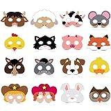 16 Piece Farm Forest Animal Felt Mask...