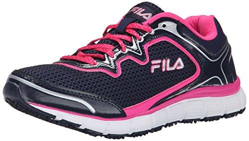 Fila Women's Memory Fresh Start sr-w, Navy/Pink Glo/White, 6.5 M US