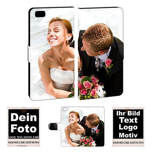 Personalisierte Premium Foto-Handyhülle für Huawei-Serie selbst gestalten mit Foto bedrucken (Huawei P8 Lite, Mit eigenes Foto Text Druck)