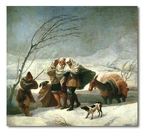 Cuadro Decoratt: La nevada - Francisco de Goya 68x62cm. Cuadro de impresión directa.