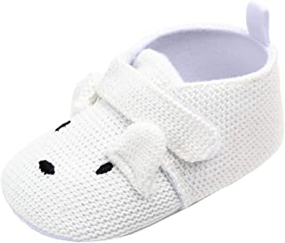 Newborn Baby Shoes Infant Knitted Boots Cartoon Animal Loafers