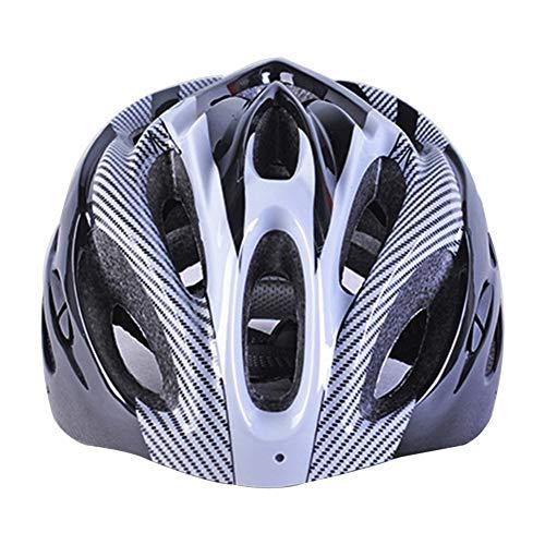 vap26 Fibra de Carbono Bicicleta de Montaña Carretera Adulto Bicicleta Equitación Casco Transpirable Casco de Ciclo - Blanco