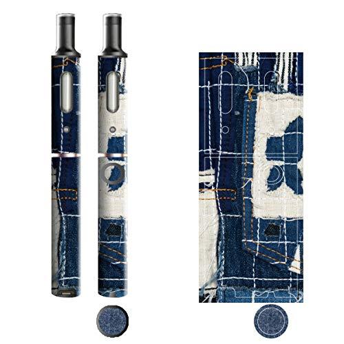 電子たばこ タバコ 煙草 喫煙具 専用スキンシール 対応機種 プルームテックプラスシール Ploom Tech Plus シール Jeans デニム モチーフコレクション 14 パッチポケット 21-pt08-2242