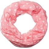 styleBREAKER fular de tubo con motivo de puntos, ligero y sedoso, pañuelo, mujeres 01016111, color:Coral blanco