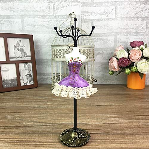 Amgend Kreative Koreanische Retro Prinzessin Modell Schmuck Rahmen Halskette Stehen Schmuck Ohrringe Ausstellungsstand Schlüsselring Rahmen, Violett