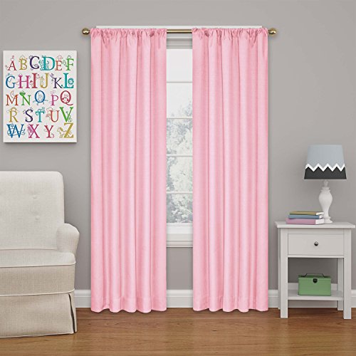 """ECLIPSE Kendall Solid Blackout Window Curtains for Bedroom (Single Panel), 42"""" x 63"""", Bouquet"""