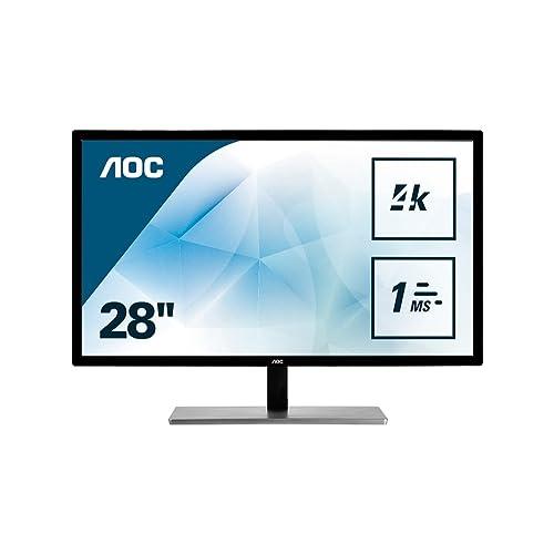 "AOC U2879VF Ecran PC LED 28"" 3840 x 2160 1 ms HDMI/VGA/DVI/D-SUB/DisplayPort"