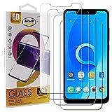 Guran 4 Paquete Cristal Templado Protector de Pantalla para Alcatel 5V Smartphone 9H Dureza Anti-Ara?azos Alta Definicion Transparente Película