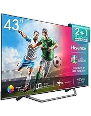 "Hisense 43AE7400F UHD TV 2020 - Smart TV, Resolución 4K, Dolby Vision, Wide Color Gamut, audio DTS Virtual-X, Ultra Dimming, Vidaa U 4.0, compatible alexa, 43"""