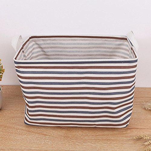 Sulifor Tuch Gürtel Griff Desktop Schutt Korb Aufbewahrungsbox, Wasserdichte Leinwand Wäsche Kleidung Desktop Schutt Korb Aufbewahrungsbox Falten
