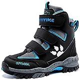 Botas de Senderismo Botas de Nieve Zapatos de Senderismo para Niños(5 Negro Azul,37 EU)