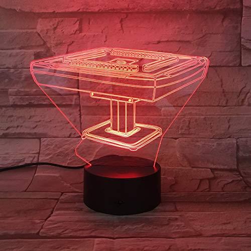 3D Illusion Led Nachtlicht Beleuchtung Spielzeug Mahjong Kinder Kinderzimmer Dekor Manga Geschenklampe Kindergeburtstag Weihnachtsgeschenke Mit USB-Aufladung bunter Farbwechsel