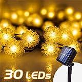 Solar Lichterkette, InnooLight Solar Lichterkette Aussen 30er LED Garten Außen Innen Wasserfest 6,8 Meter Warmweiß Solar Beleuchtung für...