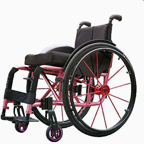 Yxian Sport Rollstuhl, mit Selbstantrieb Rollstuhl mit Quick-Demontage Reifen, Sitz Transport Stuhl Ergonomischer, Geeignet für unbequeme Beine und Füße,A