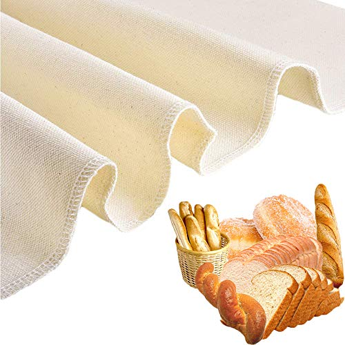 Professional Bakers Extra Large Couche 35'x26' Bread Proofing Cloth, 100% Natural Heavy Duty Thick Linen Pastry Proofing Cloth for Baking Baguettes, Loaves, Ciabatta