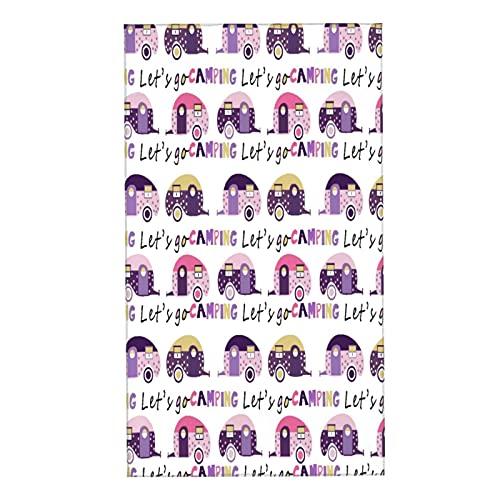 CIKYOWAY Toallas de Manos Colorido Aventura Camper Caravana Camping Niño Diversión Gráfico Happy Hippie Toalla Facial toalla de baño pequeña microfibra Absorebentes Esencial para viajar a casa 40x70cm