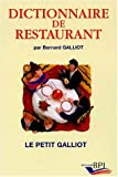 Dictionnaire de restaurant - Editions BPI - 30/11/2001