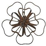 Scwhousi Metal Flower Wall Decor Outdoor Garden Wall Art Sculpture,Rustic(14.25' 1.75')¡