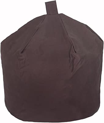 Big Beanie Zitzak.Bean Bag Cover In Brown Faux Leather Large Standard Beanbag Unfilled