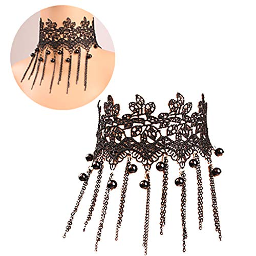 ZOYLINK Femmes Choker Mode Perle Gland Style Gothique Collier De Tatouage Déclaration Collier Bijoux Femmes Fille Cadeau Pack