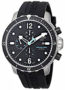 Tissot Men's T0664271705700 Seastar 1000 Black Chronograph Dial Watch image