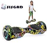 SISGAD 6.5 Zoll Hoverboard, Self Balancing Scooter Elektro Scooter Hover Scooter Board mit Bluetooth und LED-Blitzrädern elektrisches Skateboard für Kinder und Jugendliche