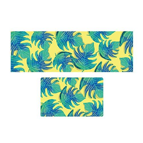 GRENSS Rechteck Tropische Pflanze Teppiche Eingang Fußmatte Bett Teppiche Non-Silp Matten für Küche/Bad Teppiche Home Matten, A, 400 mm x 600 mm