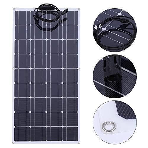 GOTOTO 140 W 12 V zonnepaneel, flexibele oplader op zonne-energie, monokristallijn, flexibel, draagbaar, waterdicht, voor camper, boot, cabine, tent, auto, aanhanger