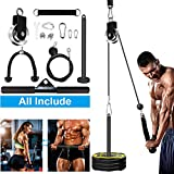 SERTT Fitness LAT and Lift Pulley System, Upgraded Pulley Cable Machine for Triceps Pull Down, Biceps Curl, Back, Forearm, Shoulder-Home Gym Equipment