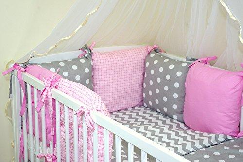 6 tlg BABY NESTCHEN (FARBEN 28-54) Bettnestchen Kantenschutz für Babybett Bettausstattung (39)