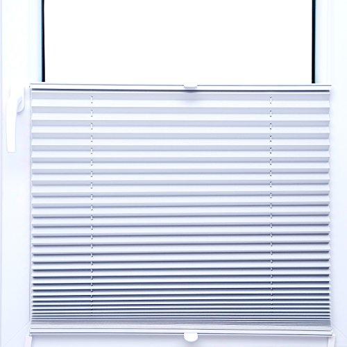 KS Handel 24 Thermo Black Out PLISSEE 70x200 cm FALTROLLO Weiss Silber 100% VERDUNKELND - 80 GRÖßEN im Shop - MEGA Auswahl