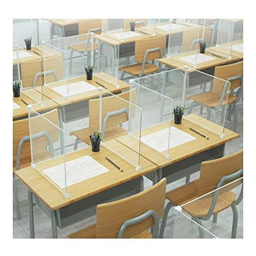 XHP Classroom Protective Barrier for School Student Desk,Portable and Clear Plastic Sneeze Guard for Kids and Children,Freestanding Protective Shield for Desk Tops and Counter