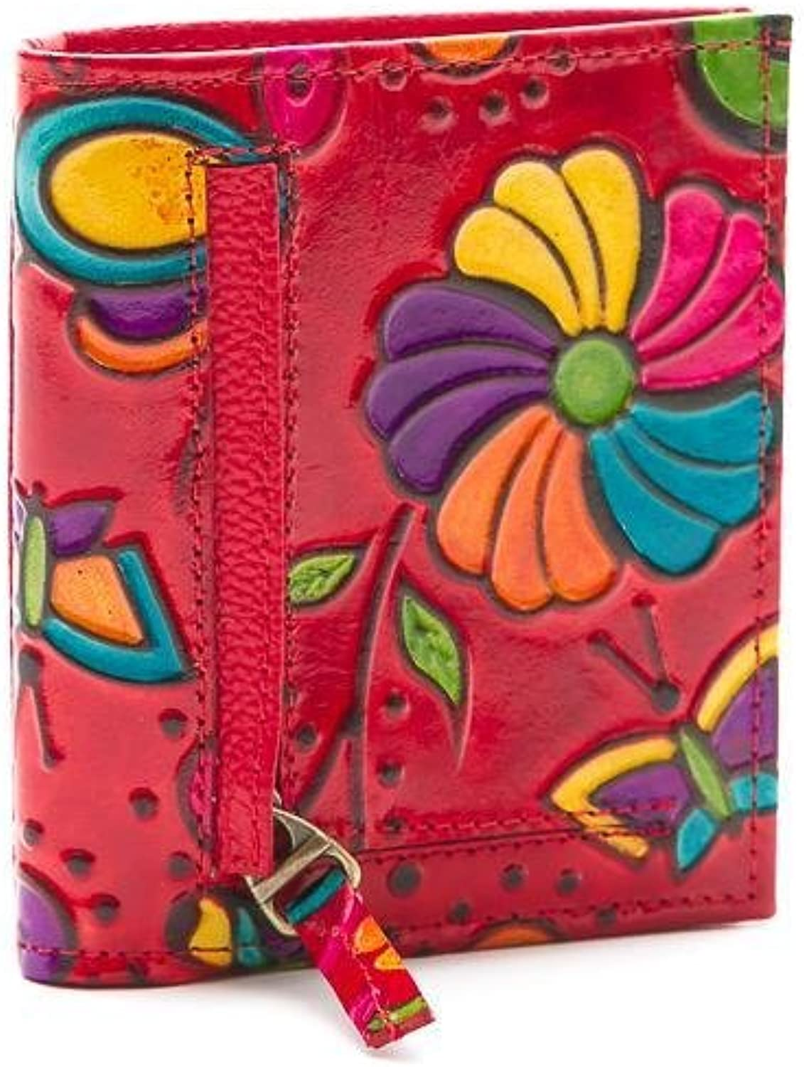 Gaspy Idalee Women's Wallet  RFID  Hand Painted  Hand Engraved  Handmade from 100 Percent Colombian Cow Leather
