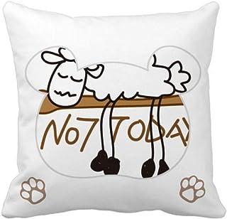 OFFbb-USA - Funda cuadrada para almohada con diseño de ramas de oveja
