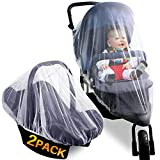 Mosquito Net for Stoller - Protective Baby Stroller Mosquito Net 2Pack - Perfect Bug Net for Strollers, Bassinets, Cradles, Playards, and Portable Mini Crib (White)