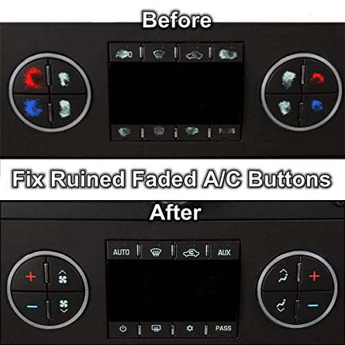 TraderPlus 3 Pack Replacement AC Dash Button Sticker Repair Kit Fit