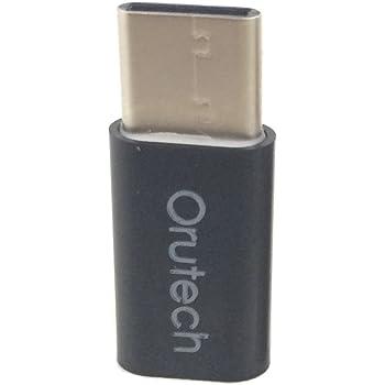 Orutech 【全4色】Orutech MicroUSB(メス) ⇒ Type-Cアダプタ(オス) 変換アダプタ 変換コネクタ Type C対応の新しいMacBook / LG G5 / HTC 10 / Lenovo ZUK Z1 MI 4C / Nokia N1 Tablet / Nexus 5x 6P / Microsoft Lumia950 / OnePlus 2 / Chromebook Pixel 2015 / NuAns NEO 等に対応 裏表関係なく挿せる OTG対応/高速転送可 マイクロUSBケーブル等の変換に ブラック1個 ca100304a02n01
