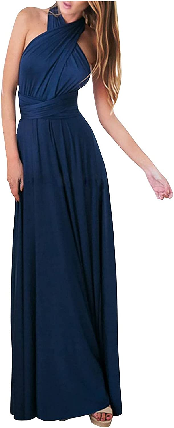 Womens Convertible Multi Way Floor Long Formal Gown Evening Dress Maxi Cocktail Wrap Bridesmaid Dresses