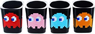 Pac-Man Ghosts Set of 4 Square Black Shot Glasses