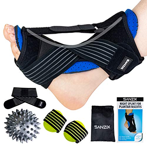 Sanzix Plantar Fasciitis Night Splint, Adjustable Foot Brace Dorsal Night Splint Ankle Brace for Plantar Fasciitis, Achilles Tendonitis, Foot Drop