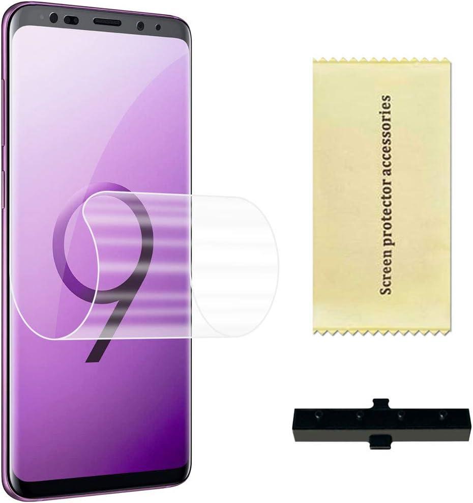 OcioDual Protector de Pantalla TPU Hidrogel para Samsung Galaxy S9 Plus Flexible Membrana Lámina Protectora Antiarañazos