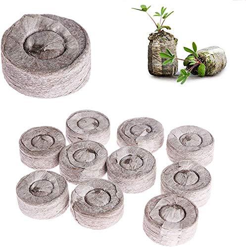 KTMAID Kokos Quelltabletten mit Nährstoffen, ohne Pikieren - Kokoserde gepresst zur Pflanzen Anzucht für den Anbau von Gartenpflanzen, Keimung von Pflanzen. (50 Stück)